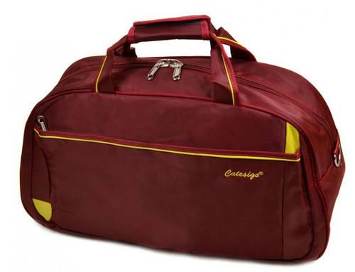Дорожная вместительная сумка-саквояж из нейлона 37 л. 22806 22 Big bordo (бордовый)