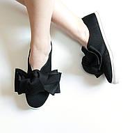 Слипоны мокасины женские Joseph Saunders черные, кеды женские осенняя обувь