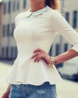 Женская блузка баска с длинным рукавом
