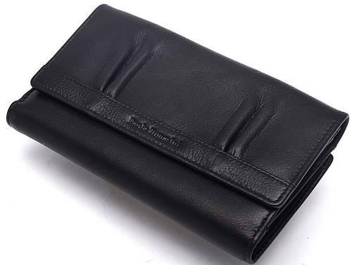 Женский функциональный кожаный кошелек Paola Tomasini  31691/10  черный