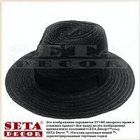 Молодёжная шляпа черная пляжная летняя