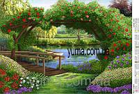 Схема для вышивания бисером Мост у озера ЮМА 3145