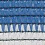 Бело-голубая сетка для затенения