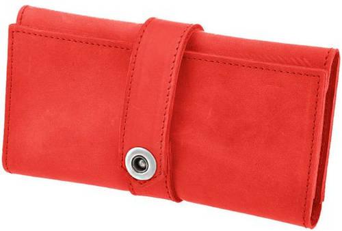 Престижный женский кожаный кошелек BlankNote BN-PM-3-coral кораловый