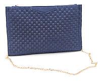 Стильная небольшая синяя замшевая женская сумка Б/Н art. 216-1