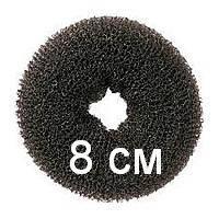 Бублик для гульки (пучка), диаметр 8 см. Причёска для бальных танцев, вечерняя причёска. Чёрный.