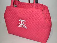 Женская сумка стеганная Chanel (Шанель) розовая