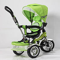 Детский велосипед с родительской ручкой TR16003, 3хколесный, рама из стали усиленная, зелёный