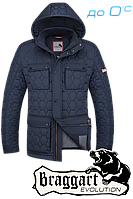 Брендовая мужская куртка демисезон Braggart 1289C