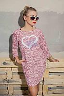 Платье украшено принтом в форме контуров сердца, фото 1