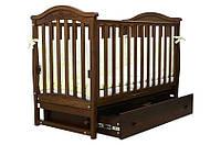Детская кроватка Верес Соня ЛД3 резьба (с маятником и ящиком)