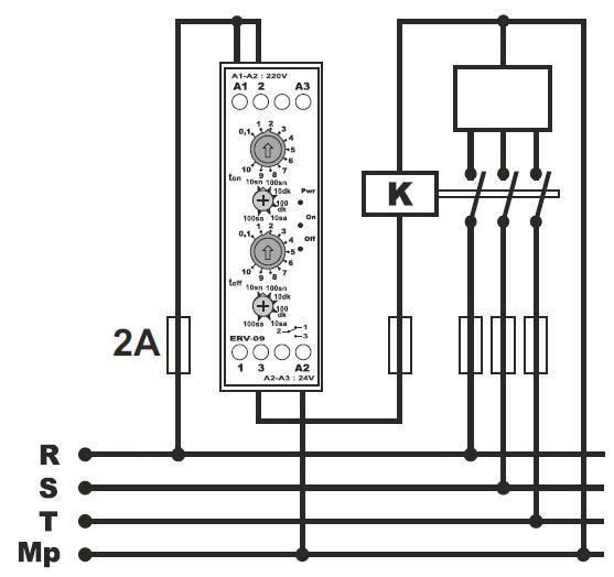 Схема подключения циклического реле времени. циклическое реле времени - циклический таймер.
