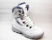 Ботинки зимние белые натуральная кожа С329
