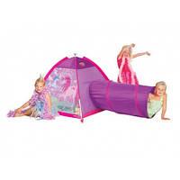 Детская палатка 5 Stars Единорог (с туннелем)