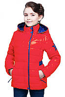 Курточка подростковая красного цвета