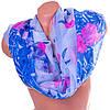 Светлый женский шарф из полиэстера 152 на 102 см BAOSIDI (БАОСИДИ) DS906-248-1 голубой