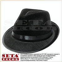 Черная шляпа Федора (Челентанка, Трилби) карнавальная