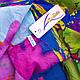 Привлекательный женский шарф из полиэстера 137 на 100 см ASHMA (АШМА) DS41-317-3 разноцветный, фото 3