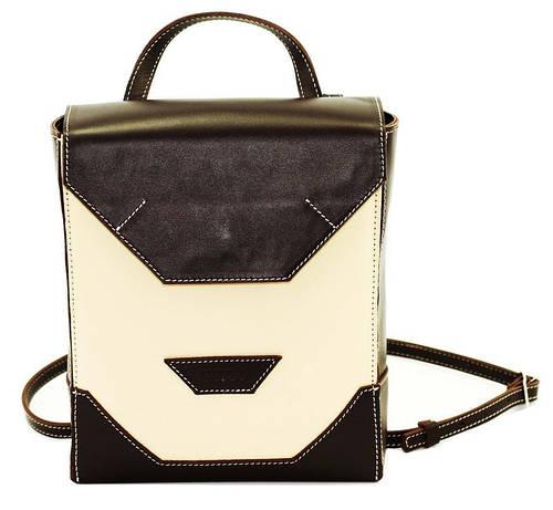 Современная сумка-планшет, кожаная VATTO Wk21.1 Sp4Kaz400 бежевый/черный