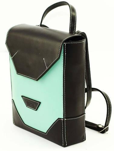 Привлекательная сумка-планшет для девушек, кожаная VATTO Wk21.1 Sp310Kaz1 зеленый/черный