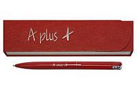 Ручка шариковая красная с надписью