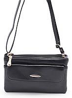 Аккуратная черная женская сумка-барсетка FUERDANI art. 602 Украина