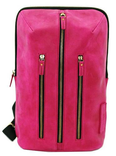 Модный молодежный рюкзак 7 л. для девушек, натуральная кожа VATTO Wk27 Kr Mal малиновый