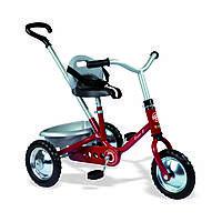 """Транспорт для детей «Smoby» (454015) трёхколёсный металлический велосипед """"Zooky Classic"""" с багажником красного цвета"""