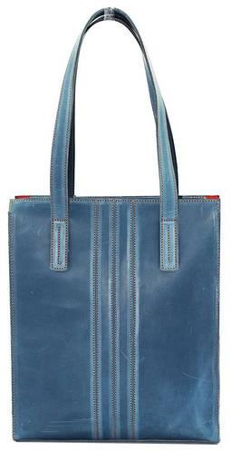 Практичная сумка для современной женщины, кожаная 35х30х6 VATTO Wk36 Kr610 голубой
