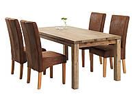 Комплект кухонный (обеденная группа из стола деревянного 180 см + 4 стула тканевых)