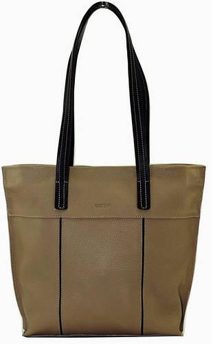 Женская матовая сумка на каждый день, кожаная 34х33х10 VATTO Wk38 FL12Kaz400 бежевый