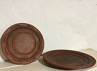Тарелка мелкая Колосок 20см (красная глина)