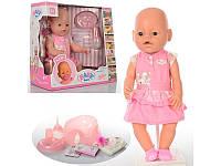 Кукла Baby Born 8009-439: 9 аксессуаров, резина + пластик, 42 см, коробка 38х36х17 см