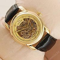 Мужские наручные часы Omega Diamonds Black/Gold/Gold co-axial escapement
