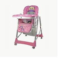 Стульчик для кормления на колесиках Bambi С0102: съемный стол, 2 колеса, 8,6 кг, 74х60х105 см