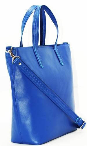 Выразительная женская сумка премиум класса, кожаная VATTO VATTO Wk43 Kaz 680 яркий синий