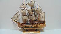 Модель деревянного парусника размер 33*32