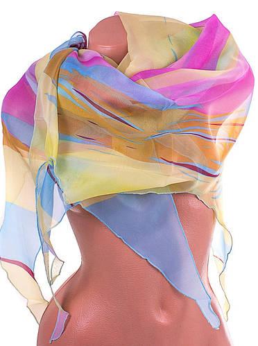 Практичный женский шарф из полиэстера ASHMA (АШМА) DS47-18-1 разноцветный