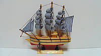 Модель деревянного парусника размер 20*20