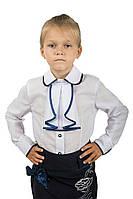 Детская блуза белого цвета с оригинальным воротничком