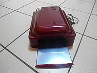 УФ Лампа на 36 Вт для наращивания ногтей индукционная с вентилятором и таймером Simei–828