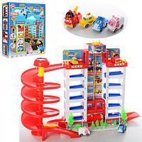Детская парковка-гараж Робокар Полли 922 A, 6 этажей, 4 машинки