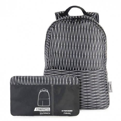 Отличный раскладной женский рюкзак для покупок Tucano COMPATTO MENDINI BLACK (BPCOBK-MENDINI) черный