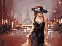 """Раскраска по цифрам Турбо """"Париж в стиле ретро"""" худ. Спейн Марк (VK028) 30 х 40 см"""
