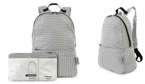 Чудесный раскладной рюкзак для шопинга Tucano COMPATTO MENDINI WHITE (BPCOBK-MENDINI-W) белый