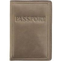 """Обкладинка на закордонний паспорт """"Passport"""" коричнева еліт"""