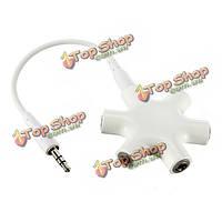3.5мм стерео аудио гарнитуры концентратор Splitter до 5 наушников на iPod
