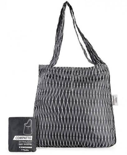 Раскладная сумка-шопер для модниц 20 л. Tucano COMPATTO EASY SHOPPER MENDINI BLACK (BPCOESH-MENDINI) черный