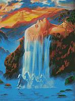 "Схема для вышивки бисером ""Девушка-водопад"""