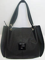 Женская  сумка под рептилию черного цвета